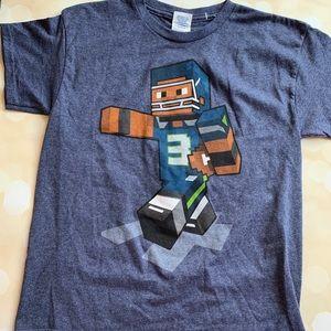 NWOT russel Wilson Minecraft shirt